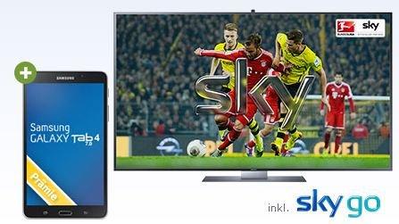 GMX SKY Aktion mit Samsung GALAXY Tab 4 7.0 24,90 € mtl.