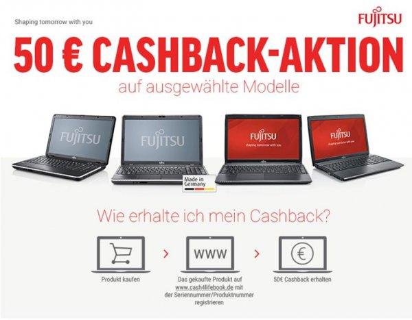 50 Euro Notebook CashBack Aktion / Fujitsu Laptop / LIFEBOOK A512, A544 mit Windows 7 Home Premium / Core i5 Variante ab 499€ - Pentium Variante ab 349€