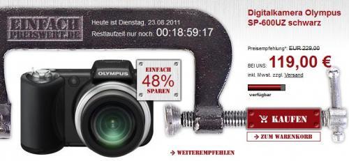olympus sp600 bridge kamera für 119€