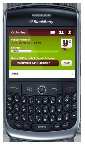 yuilops Umsonst SMS Flat jetzt auch für BlackBerry (iPhone, iPod Touch, iPad und Android Smartphones).