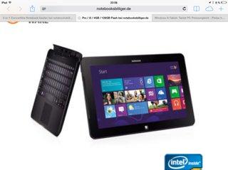 Samsung ATIV Smart PC Pro (128 SSD, i5, Füll HD, HSPA+, 4 GB RAM)