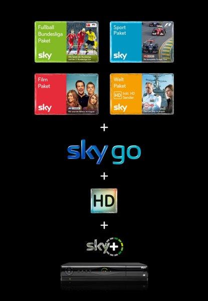 Sky komplett, 24 Monate für 34,90€ mtl. @ brands4friends