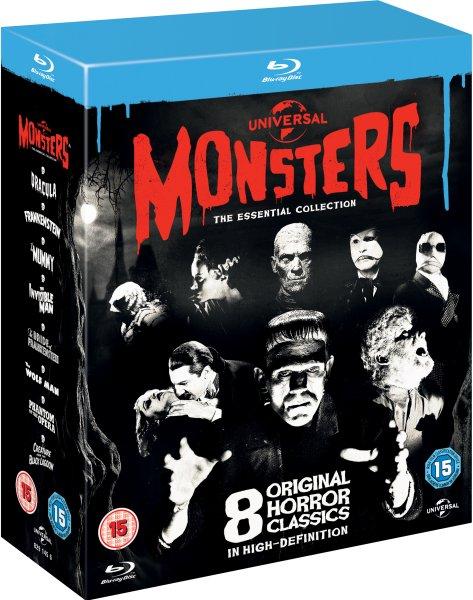 [Zavvi.com] Universal Classic Monsters: The Essential Collection [Blu-ray] (8 Disc) inkl. Vsk für ca.16,50 € (Gutschein BOX2)