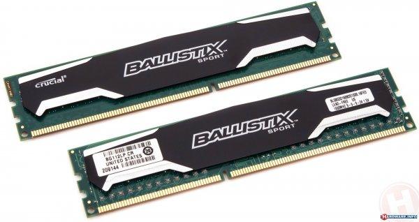 2x8GByte Kit - 16GB Crucial Ballistix Sport DDR3-1600 DIMM CL9 Dual Kit @mindfactory im midnightshopping