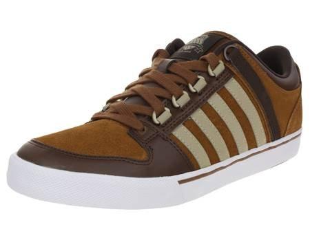 K-Swiss Alvary SDE VNZ Schuhe Leder Herren Sneaker braun  [Mein Paket]