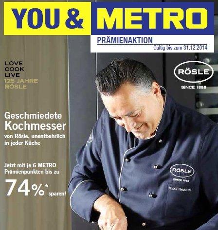 [Metro] Prämienaktion auf Rösle Kochmesser