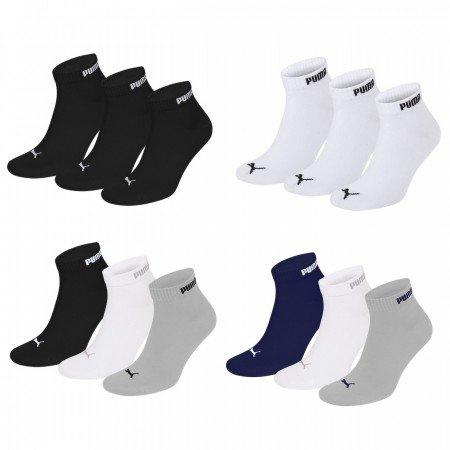 [mybodywear] 15 Paar Puma Quarter oder Sneaker Socken Gr. 39-42, 43-46, 47-49, Schwarz, Weiß, navy und gemischt Idealo.de ab 39,75€