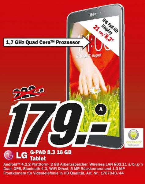 LG G Pad 8.3 für 179€ Lokal @ Mediamarkt Essen