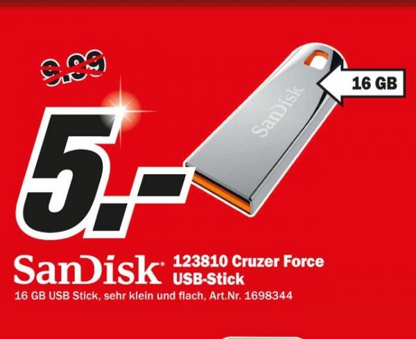 Sandisk Cruzer Force 16GB für 5€ Lokal @ Mediamarkt Wuppertal