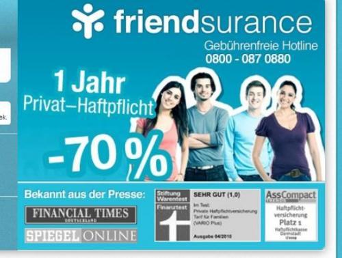 Vom Laster gefallen - Friendsurance Gutscheincodes für lau