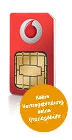 Vodafone: Kostenlose SIM-Karte von CallYa -  1€ Startguthaben