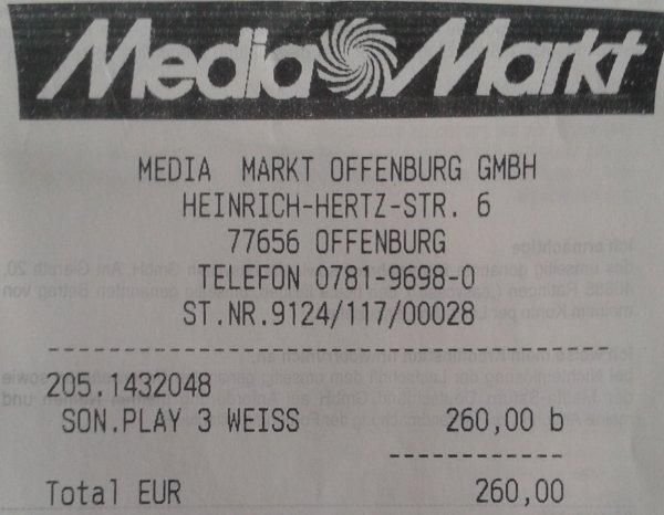 Sonos Play:3 für 260€ & Play:5 für 350€  [lokal MM Offenburg evtl Lahr?] (Idealo: 264€ bzw 364€)