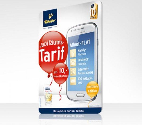 [Tchibo} Allnet-Flat für monatlich 10,00 €