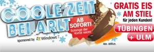 Lokal: Gratis Eis bei Arlt
