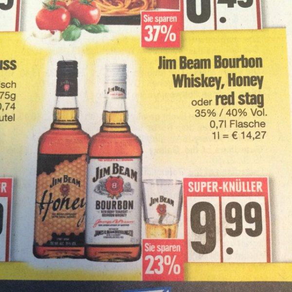 Jim Beam Bourbon Whiskey für 9.99 bei Edeka Nürnberg (lokal?)