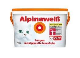 2 Eimer (20l) Alpinaweiß mit Katze