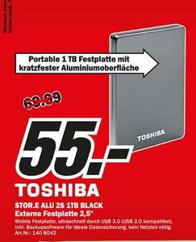 "[Lokal Bochum] Toshiba 1TB 2.5"" externe Festplatte USB3"