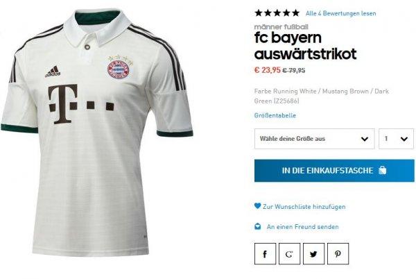 FC Bayern Auswärtstrikot 13/14 für 24,11€ inkl. Versand