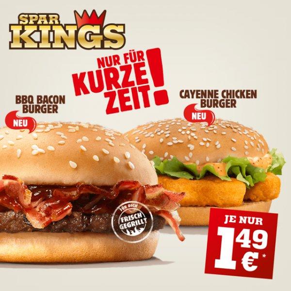 [Burger King] BBQ Bacon & Cayenne Chicken für je 1,49€