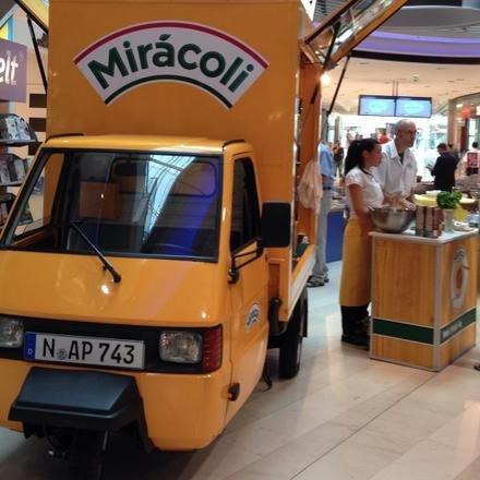 (Frankfurt/Main) Mirácoli-Mobil: Kostenlos Lasagne & Pesto Testessen + Rabatt-Coupon erhalten (Bockenheimer Warte & Hauptbahnhof)
