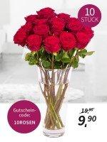10 rote Premium Rosen für nur 9,90€ @MIFLORA