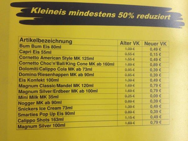 [netto Markendiscount] Kleineis mindestens 50% reduziert (Lokal Hannover Bothfeld, Sutelstraße)