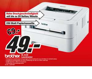 [Lokal Berlin] Laserdrucker Brother HL-2130  31% günstiger im Media Markt
