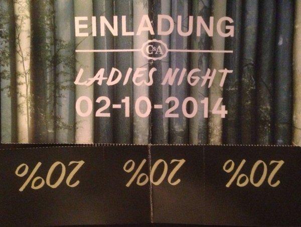 Ladies Nights bei C&A - 3x 20% auf je einen Artikel Ihrer Wahl am 02.10.2014 von 20Uhr-22Uhr