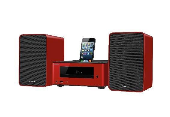 ONKYO Mini-Stereoanlage CS-255 in 3 Farben (rot, gelb, blau) inkl. Dockingfunktion für jeweils 134,95€ frei Haus [3% Qipu]