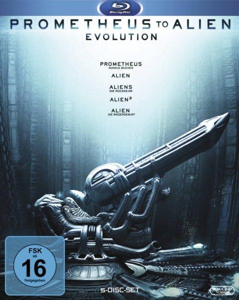 [Amazon Prime]Prometheus to Alien: Evolution [5 Blu-rays] Box