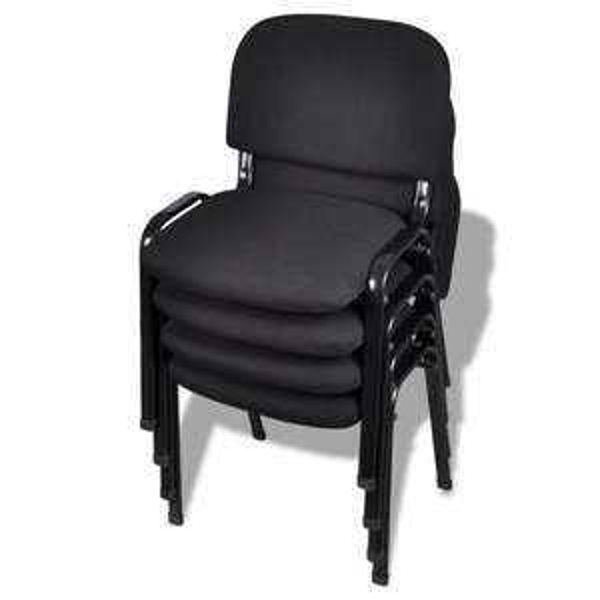 4 x Konferenzstuhl Besucherstuhl Bürostuhl stapelbar Beistellstuhl schwarz 20050 (16,99€ pro Stuhl)