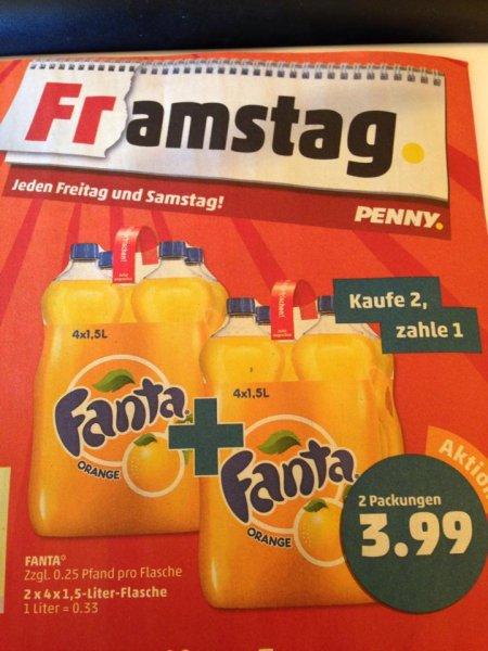 [PENNY 26.-27.09.] 2 x 4 x 1,5l Träger Fanta 2 x 4er Träger >> 2 für 1 Preis