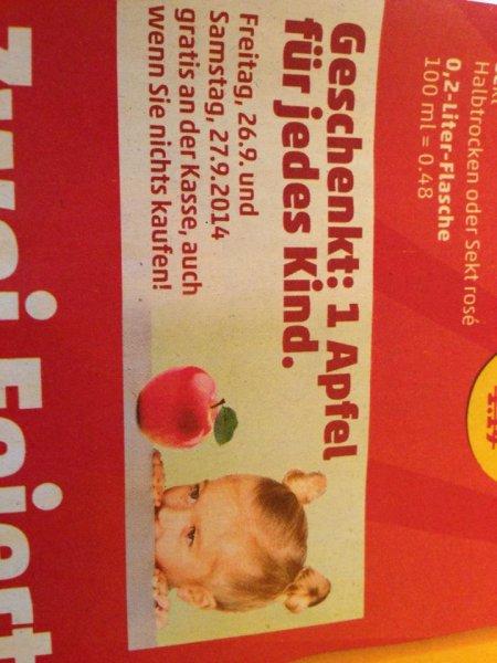 [PENNY 26.-27.09.] Geschenkt: 1 Apfel für jedes Kind. Gratis an der Kasse.