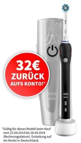 Braun Oral-B elektr. Zahnbürste PRO 2500 Black mit gratis Reiseetui NEU / OVP