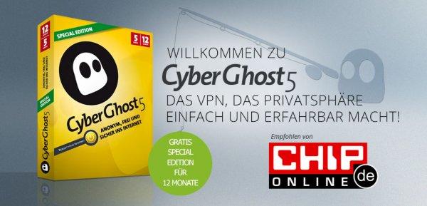 CyberGhost5 Special Edition Kostenlos für 1 Jahr