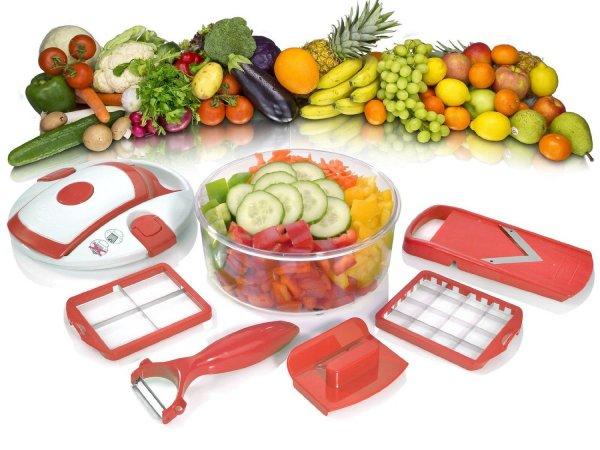 Genius Salat Chef Smart 6-tlg. Gemüse Obst Schneider Hobel Schäler Küchenhelfer