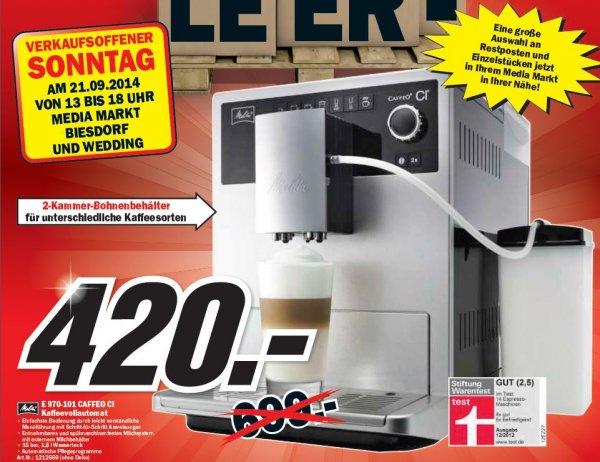 [MediaMarkt Berlin&BB] Melitta E 970-101 Kaffeevollautomat // Restposten 420€ (-40%)