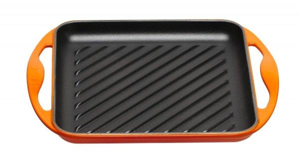 Le Creuset Grillplatte quadratisch 24 x 24 cm ofenrot für 53,74 € @Amazon.it