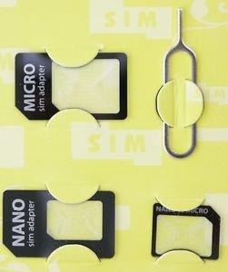 Doppelpack Sim Adapter Nano, Micro, @ebay für 1€ oder billiger aus DE