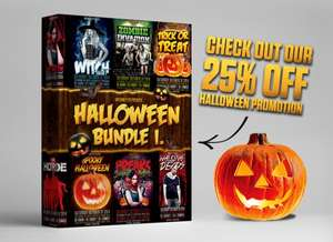 Halloween Flyer Bundle Vol.1 (PSD Vorlagen)