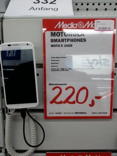 [Mediamarkt Ansbach] Motorola Moto X 16GB 1.Gen für 220€