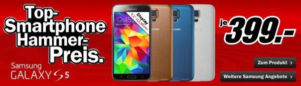 [Mediamarkt.de] SAMSUNG Galaxy S5 16 GB für 399€ (idealo: ab 434,90€)