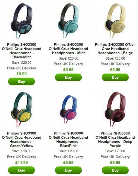 """Philips™ - On-Ear Kopfhörer """"SHO3300"""" (6 Farbvarianten) für €12,69 [@Zavvi.com]"""