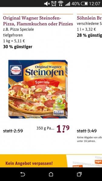 tegut.. Original Wagner Steinofen-Pizza, Flammkuchen oder Pizzies