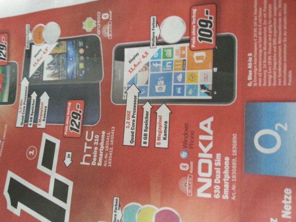 (Lokal Mönchengladbach) Nokia Lumia 630 DualSim für 109€