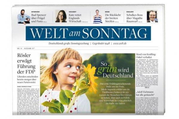 lokal Nürnberg: Welt am Sonntag mit Gutschein