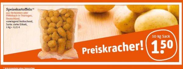 [Tegut] 10 kg deutsche Kartoffeln für 1,50€ (ab 26.09.-27.09.2014)