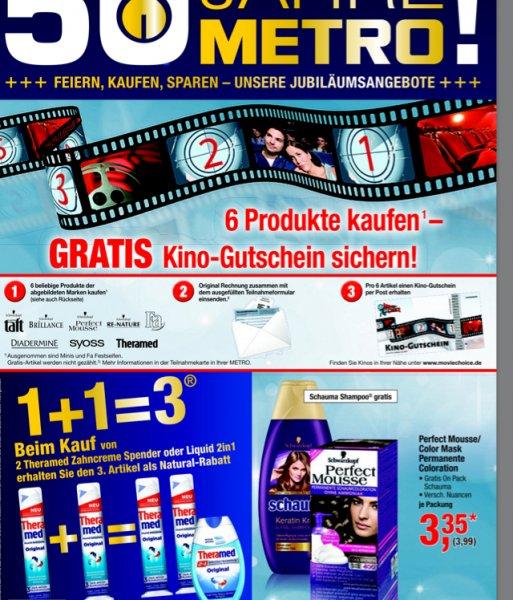 [offline] 6 Fa Produkte (und andere Marken s.u.) kaufen und einen Kinogutschein gratis erhalten @Metro
