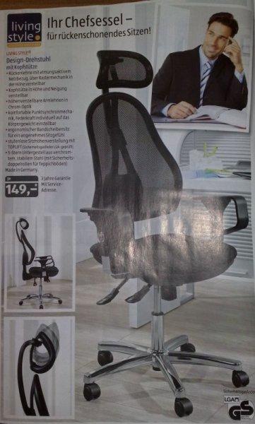 Design Drehstuhl mit Kopfstütze Living Style bei Aldi Süd ab 29.09.2014