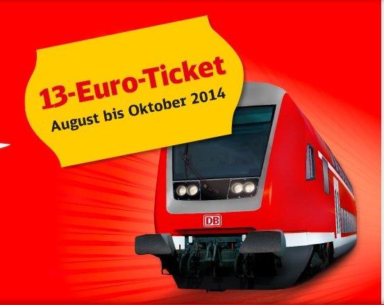 DB 13€ Ticket Raum Mitteldeutschland